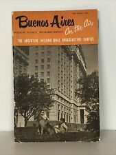 More details for buenos aires 1950's argentine republic programme - pamphlet