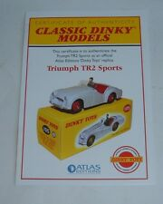 Atlas/Dinky Toys No. 105 Triumph TR 2 Sports, Certificate of Authenticity, Mint