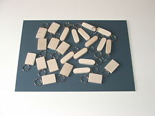 24 mixed KEYRING BLANKS-pyrography,painting engraving-not plywood-£10.95inc post