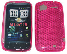 TPU Pattern Gel Case Cover Pink For HTC Sensation 4G XE G14 Z710e G18 Z715e UK