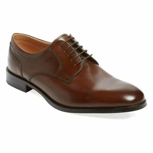 LOAKE WYCOMBE MENS CALF LEATHER EXTRA WIDE DERBY FORMAL CASUAL LACE UP SHOES