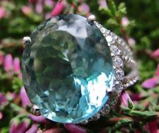 Erhitzte Ringe mit Saphir echten Edelsteinen aus Sterlingsilber