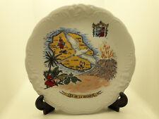 Ancienne assiette déco mural souvenir de l'Ile de la Réunion old french plate