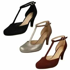Clarks 100% Leather Strappy, Ankle Straps Heels for Women