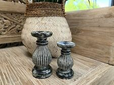 Black & white washed candles.