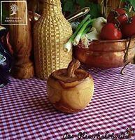 Apfeldose Dose aus Olivenholz Holz Dose Döschen in Apfelform