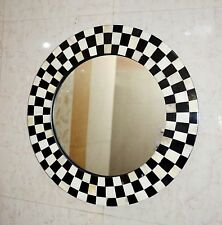 Mirror Wall Hanging Bedroom Bone/Horn Inlay Frame Home Decor - Checker Design