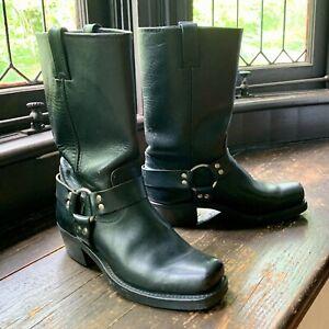 FRYE Harness 12 R Black Womens 9 Boots $428