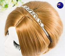Women Crystal Bling Wedding Party Bride race shiny Hair Head band Fascinator