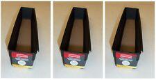 "RUBBERMAID ""BOX OF 3"" xxx1J18-09 NO SLIP DRAWER ORGANIZER 3"" X 12"" BLACK NEW"