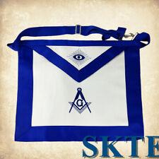 Blue Lodge Master Mason Masonic Apron White Cloth with Blue Border Masonic Apron