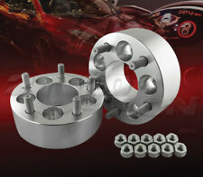 """2pcs 50mm (2"""") Thick 5x100 to 5x100 Wheel Adapters Spacers M12x1.5 Studs"""