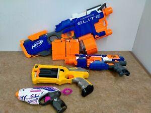 NERF GUN BUNDLE N STRIKE ELITE / STOCKADE WITH MASSES OF AMMO