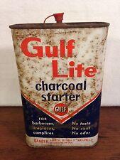 Vintage Old Logo Gulf Lite Charcoal Starter Tin (hd2)