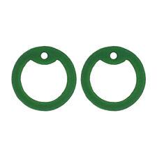 2 Green Dog Tag Silencers - Military GI Silencer - Tag-Z