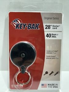 Key-Bak Retractable Cord Heavy Duty With Belt Clip 28 Foot Cord Made in USA!!!