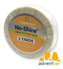 "No Shine Bonding Tape Roll 1/2"" x 3 yds WALKER lace wig toupee hairpiece"