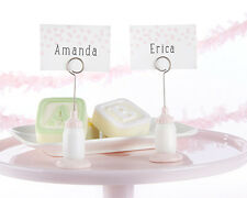 6 Pink Classic Bottle Place Card Holders Girl Baby Shower Decorations Q36427