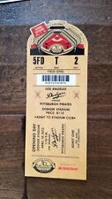 2012 PIRATES @ LOS ANGELES DODGERS OPENING DAY FULL TICKET 1962 COMMEMORATIVE