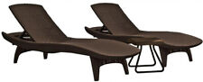 Patio Chaise Lounger All-Weather Adjustable Resin Durable Stackable Rust-Proof