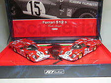 Slot racing FLY-carmodel Filipinetti-Ferrari 512S Le mans 1970 1/32 Coda Lunga
