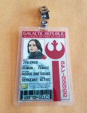 Star Wars Id Badge - Galactic Republic Jyn Erso Rogue One prop cosplay costume