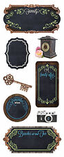 Paper House FAMILY Chalkboard Stickers scrapbooking CAMERA CLOCK KEY