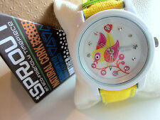 Sprout girls women watch White Yellow Eco Friendly Watch of the Future Canary