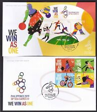 Philippines 2019 Sport 30th SEA Games Cycling, Basketball Cut to shape Cpt 2 FDC