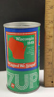 Wisconsin 1976 7up United We Stand Can Flat Pull Tab Top 1 of 50 Rare Vintage