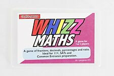 Whizz Maths- 11+ fractions, decimals, %, ratio card game - 9-11yrs