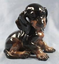 Dackel Porzellanfigur dachshund figur porzellan hund Rosenthal schwarz 1944