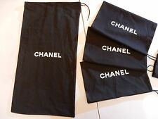 """Chanel Classic Black Dust Bag large For Boots Shoes Bags Purse Travel 21 X 11.5"""""""