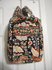 Vera Bradley Large Backpack Laptop Bag Navy Red White Floral Print