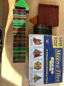 magna tiles 74 Pieces Clear Color
