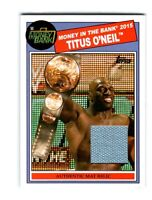 WWE Titus O'Neil 2015 Topps Heritage Used Money In The Bank Mat Relic Card DWC