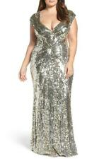 Mac Duggal Sequin Plunging V-Neck Gown- Size 20W (Plus)