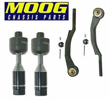 Chevy Buick GMC Isuzu Saab Set Of 2 Front Inner & 2 Outer Tie Rod Ends KIT Moog