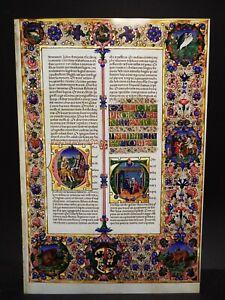 """C 1455 Bible of Borso d'Este - Fine Art Reproduction Page 15 3/4"""" x 23 3/4"""""""