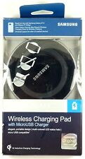 Samsung - SMS Qi Inductive Wireless Charging Pad, with 2A USB Wall Charger,Black