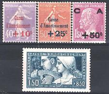 FRANCE ANNEE COMPLETE 1928 YVERT 249 / 252 , 4 TIMBRES NEUFS xx LUXE   M897F