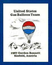UNITED STATES GAS BALLOON TEAM 1987 GORDON BENNETT AUSTRIA HOT AIR STICKER