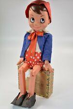PINOCCHIO MIGLIORATI 55cm Figur 60er Italy beweglich Rarität Vintage; K57