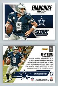 Tony Romo - Cowboys #5 Score NFL 2015 Panini Franchise Trading Card