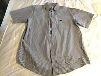 CARHARRT Short Sleeve Button Front Brown Plaid Cotton Outdoors Shirt Men's Large
