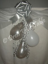 Diamond 60th Wedding Anniversary Party Table Decoration Pack - Organza, Balloons
