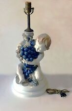 ROSENTHAL GERMANY PORCELAIN CHERUB TABLE LAMP BY C. HOLZER-DEFANTI ca 1920's
