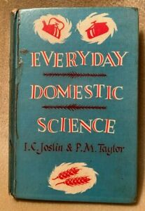Everyday Domestic Science Joslin & Taylor Vintage Ex Leigh Girls Grammar School