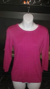 New Genuine The Limited Pink Cable Knit Sweater with Zipper Sz. S Ret. $60
