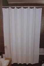 "Hotel Collection White & Gray Stripe Fabric Shower Curtain 72"" x 72"" NIP"